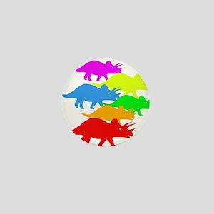 Triceratops Family Mini Button
