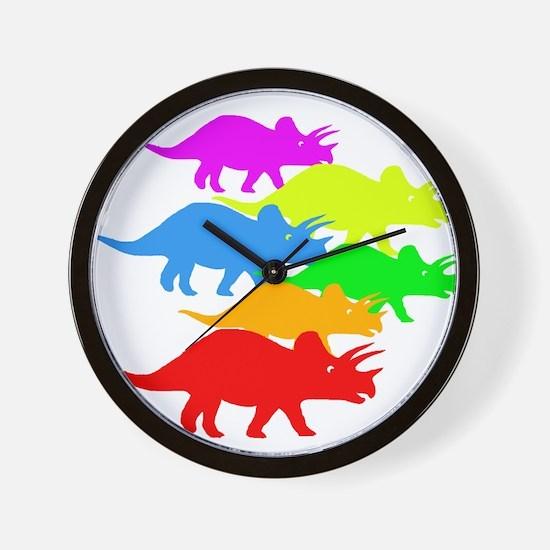 Triceratops Family Wall Clock