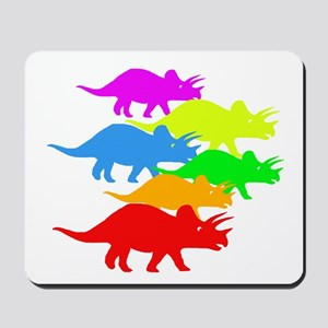 Triceratops Family Mousepad