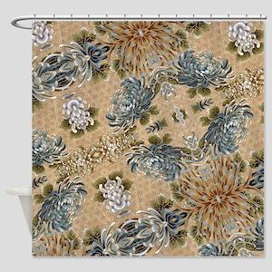 floral patten japanese textile Shower Curtain