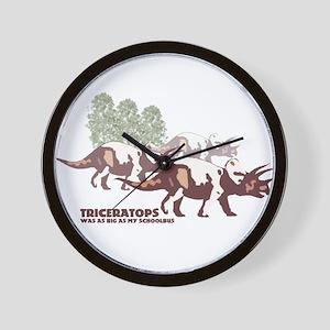 triceratops.jpg Wall Clock