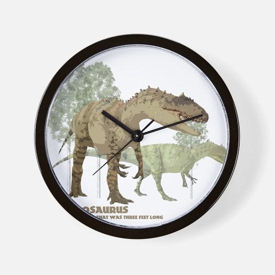 allosaurus.jpg Wall Clock