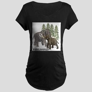 woolly mammoth Maternity Dark T-Shirt