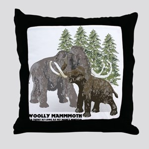 woolly mammoth Throw Pillow