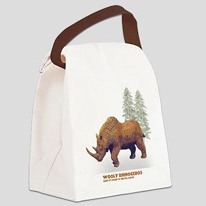 woolly rhino Canvas Lunch Bag