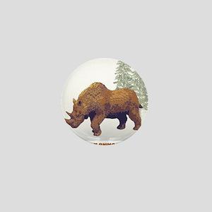 woolly rhino Mini Button