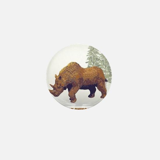 woolly rhino.png Mini Button
