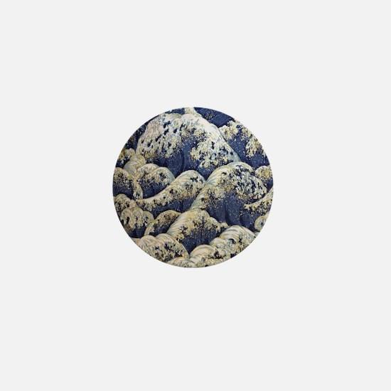 japanese ocean waves landscape Mini Button