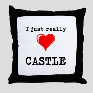 The Love for Castle Throw Pillow