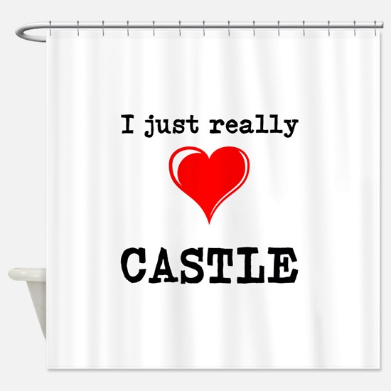 The Love for Castle Shower Curtain