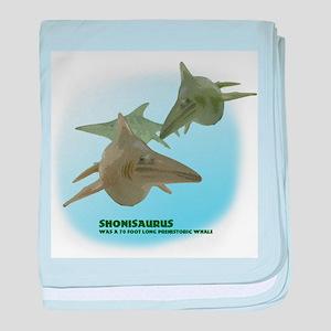 shonisaurus baby blanket