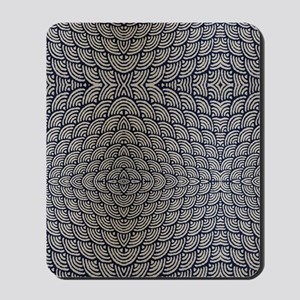 japanese ocean waves pattern Mousepad