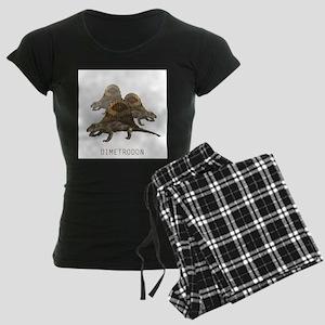 3-dimetrodon Women's Dark Pajamas
