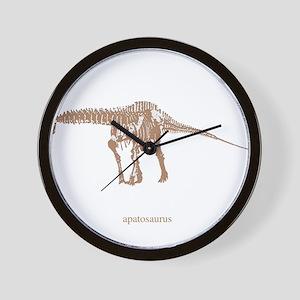 apatosaurus skeleton Wall Clock