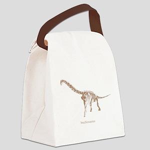 brachiosaurus skeleton Canvas Lunch Bag