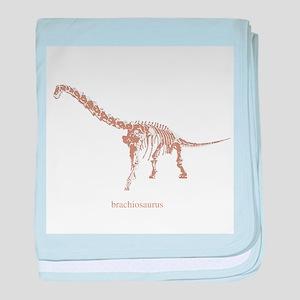 brachiosaurus skeleton baby blanket