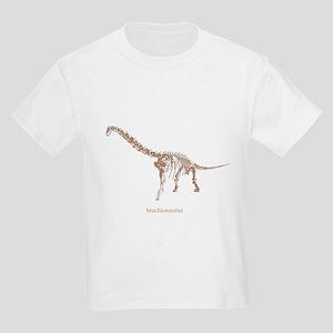 brachiosaurus skeleton Kids Light T-Shirt