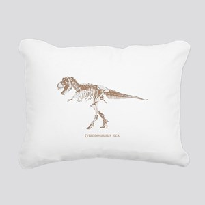 t rex skeleton Rectangular Canvas Pillow