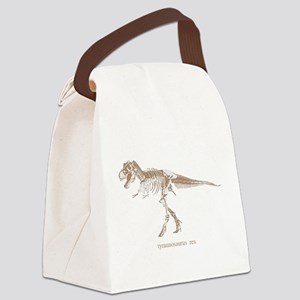 t rex skeleton Canvas Lunch Bag