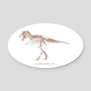 t rex skeleton Oval Car Magnet