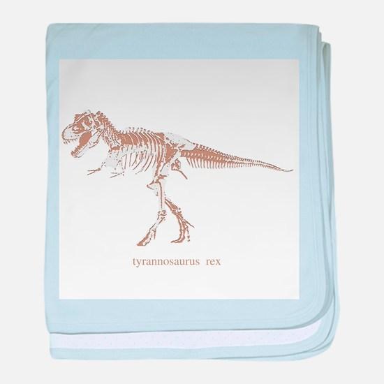 t rex skeleton.png baby blanket