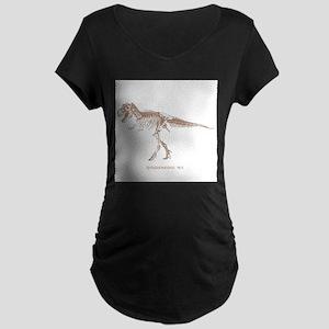 t rex skeleton Maternity Dark T-Shirt