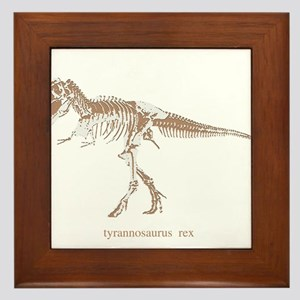 t rex skeleton.png Framed Tile