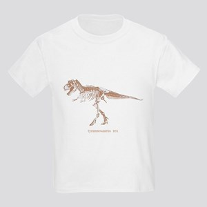 t rex skeleton Kids Light T-Shirt