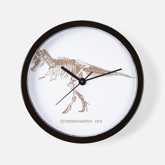 t rex skeleton.png Wall Clock