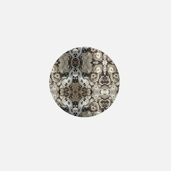 floral patten japanese textile Mini Button