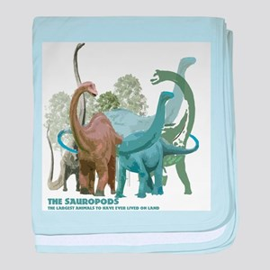 The Sauropods baby blanket