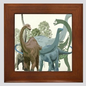The Sauropods Framed Tile