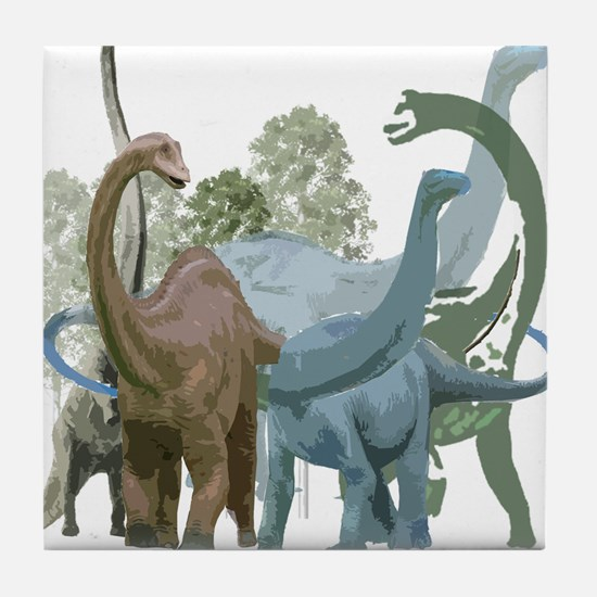 The Sauropods Tile Coaster