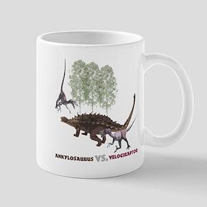 Velociraptor vs. Akylosaurus Mug