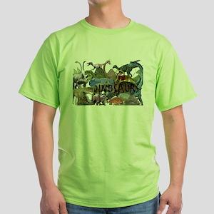 ALL WHITE Green T-Shirt