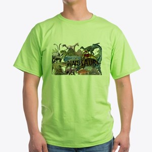 ALL WHITE.png Green T-Shirt