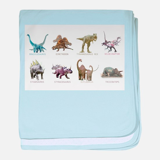 Unique Dinosaurs baby blanket