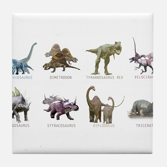 Cute Dinosaurs Tile Coaster