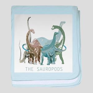 3-sauropods baby blanket