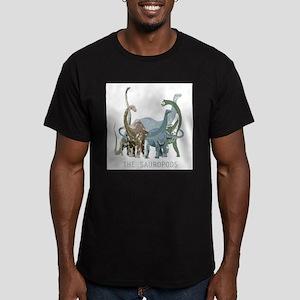 3-sauropods Men's Fitted T-Shirt (dark)