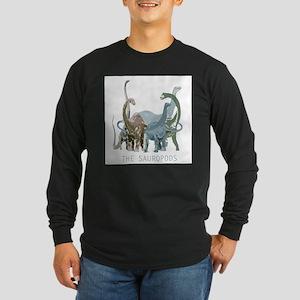 3-sauropods Long Sleeve Dark T-Shirt