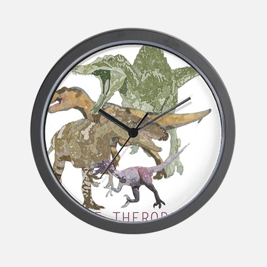3-theropods.png Wall Clock