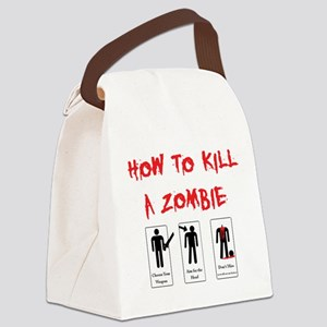 Zombie Killing 101 Canvas Lunch Bag