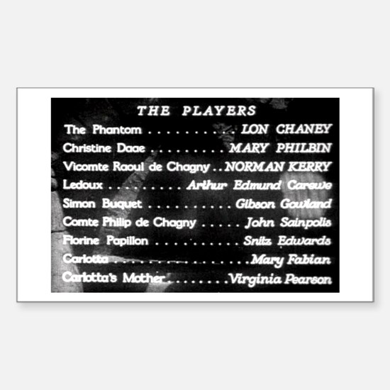 """The Players"" Title Rectangle Decal"
