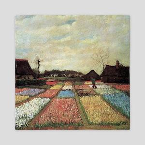 Bulb Field by Vincent van Gogh. Floral landscape i