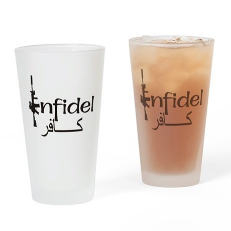 INFIDEL Drinking Glass