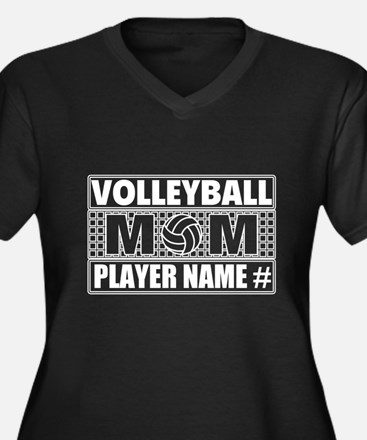 Personalized Volleyball Mom Plus Size T-Shirt