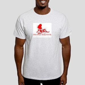 half evil,  half evil t-shirt Ash Grey T-Shirt