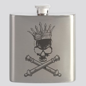 Artillery Skull Cross Cannons Flask