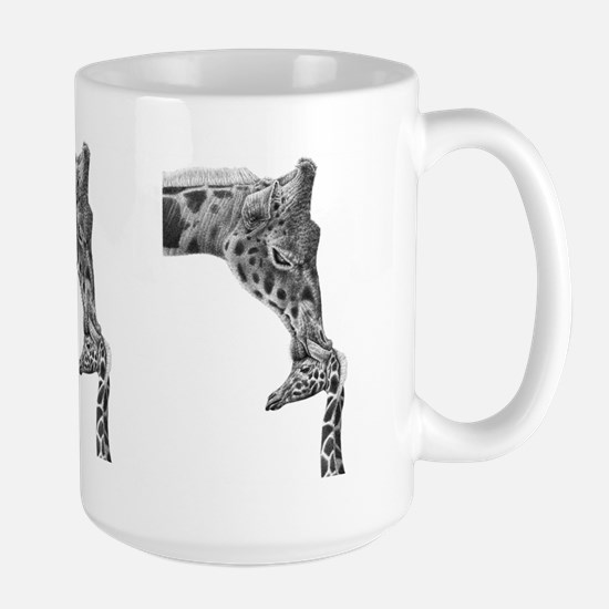 Giraffe And Calf Large Mug Mugs